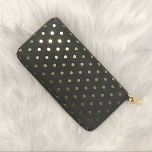 SALE! Deux Lux Metallic Polka Dot Wallet